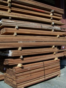 Lumber Stack of Sapele