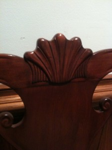 Genuine Mahogany Chair Carving